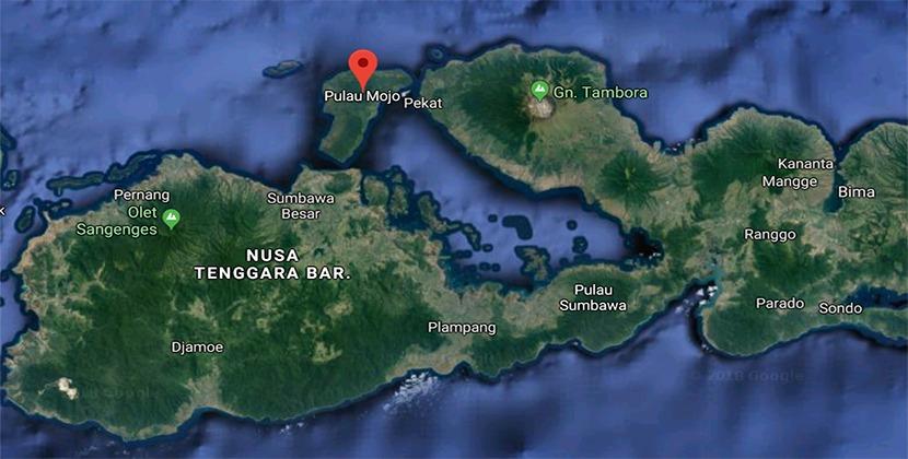 Map pulau moyo